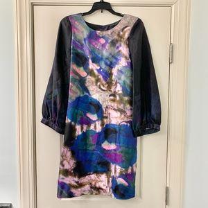 Cynthia Rowley 100% Silk Watercolor Abstract Dress